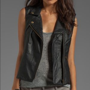 Sanctuary faux leather vest - size M